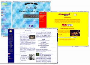 Strona www zmieniała sięprzez lata