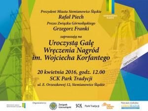 Zaproszenie Nagroda im. Wojciech Korfantego